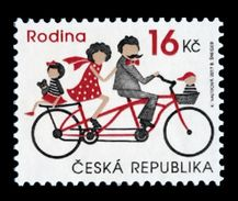 Czech Republic 2017 Mih. 944 Family. Bicycle MNH ** - Tschechische Republik