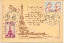 Carte Avec Commémoration De Port Aviation - Luftpost