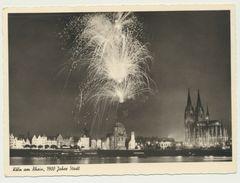 AK  Köln Am Rhein 1900 Jahre Stadt Feuerwerk Mit Dom 1951 - Koeln