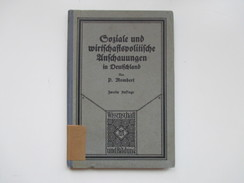 Soziale Und Wirtschaftspolitische Anschauungen In Deutschland P. Mombert. Wissenschaft Und Bildung. 1928 - Bücher, Zeitschriften, Comics