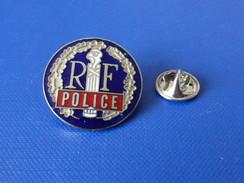 Pin's Police - RF République Française - Couronne De Lauriers - Bonnet Phrygien - Emblème - Numéroté (KB6) - Police