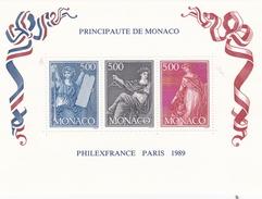 MONACO 1989 TIMBRES BLOC FEUILLET N° 47 PHILEXFRANCE 89 LE LOT DE 2 ** ET OBL. - Monaco