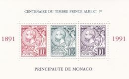 MONACO 1990 TIMBRES BLOC FEUILLET N° 53 CENTENAIRE EMISSION PRINCE ALBERT 1ER - Monaco