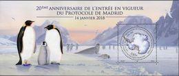 T.A.A.F. // F.S.A.T. 2018 - Protocole De Madrid, Pingouins - BF Neufs // Mnh - Ungebraucht