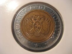 5 Bolivianos 2004 BOLIVIA Bimetallic Coin - Bolivie