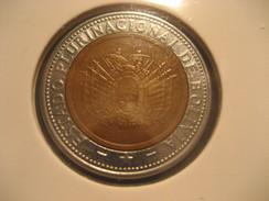 5 Bolivianos 2010 BOLIVIA Bimetallic Coin - Bolivia