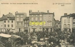 43 Saugues, La Place Antique, Marché Aux Moutons, Belle Carte écrite 1917 - Saugues