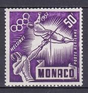 MONACO 1953 TIMBRE POSTE AERIENNE N° 52 ** JEUX OLYMPIQUES HELSINKI - Monaco