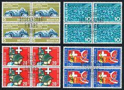 LA SERIE 4xBLOCS DE 4 OBLITERES 1er/J.9.3.1964. C/.S.B.K. Nr:406/409. Y&TELLIER Nr:726/729. MICHEL Nr:791/794. - Schweiz