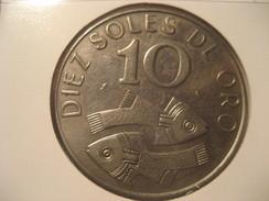 10 Soles De Oro 1969 Good Condition PERU Coin - Pérou