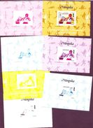 MONGOLIA  SPORT OLYMPIC BOXING  IMPERF Ungezähnt NON DENTELE  COMPLETE 7 COLOR TRY PROOFS MNH SUPERB - Summer 1996: Atlanta
