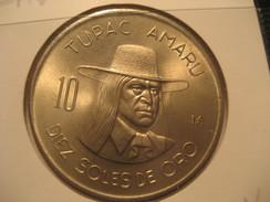 10 Soles De Oro 1974 Good Condition PERU Coin - Peru