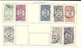 MAROC COLIS POSTAUX 1917/1927  /  8 T. SUR 11 Oblitérés Sur Charnières Sur Fragment Page Ancien Album / BEAUX CACHETS - Maroc (1891-1956)