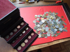 START 1 EURO !!! 424 MONNAIES TOUTES EPOQUES- LOT INTERESSANT !!! - Monete & Banconote