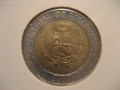 2 Nuevos Soles 2007 Bimetallic PERU Coin - Perú
