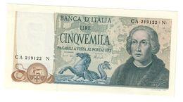 Italy 5000 Lire 11/04/1973 FDS- / UNC- .SA. - [ 2] 1946-… : Républic
