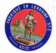 Jan18    57009     étiquette Camembert   Le Sans Reproche - Fromage