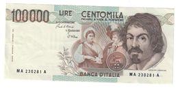 Italy 100000 Lire Caravaggio 1 Type Serie A 1983 SUP / AUNC .SA. - [ 2] 1946-… : Républic