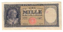 Italy 1000 Lire 20/03/1947 .SA. - [ 2] 1946-… : Républic