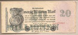Germania - Banconota Circolata Da 20.000.000 Di Marchi - 1923 - [ 3] 1918-1933 : Repubblica  Di Weimar