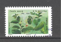 France Autoadhésif Oblitéré (Les Sens, Le Goût - Oasis Sucré, Du Thé à La Menthe) (cachet Rond) - France