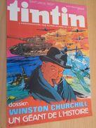 Page De Revue Des Années 70/80 : COUVERTURE DE LA REVUE  TINTIN : WINSTON CHURCHILL - Andere