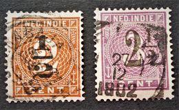 INDES NEERLANDAISES - SURCHARGES 1902 - OBLITERES - YT 38/39 - MI 38/39 - Niederländisch-Indien