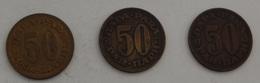 JUGOSLAVIA – 3 Monete – 50 PARA – 1965 – 1973 – (105) - Jugoslavia