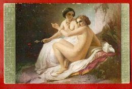 TWO WOMEN NUDE BY A. NEFF VINTAGE POSTCARD PUBLISHER LAPINA 526 - Künstlerkarten