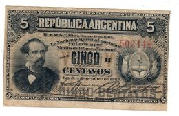 Argentina 5 Centavos 01/01/1883 .SA. - Argentina
