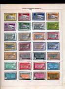 FRANCE TOGO  - 36 Timbres Avec Charnière Attachée Au Papier Noir  2 SCANS - Unused Stamps
