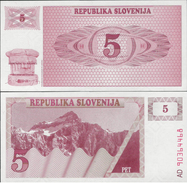 Slovenia 1990 - 5 Tolar - Pick 3 UNC - Slovenia