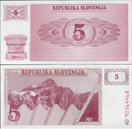 Slovenia 1990 - 5 Tolar - Pick 3 UNC - Slovénie
