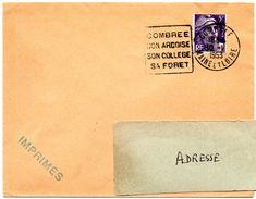 MAINE Et LOIRE - Dépt N° 49 = COMBREE 1953 = FLAMME SUPERBE = DAGUIN ' ARDOISE / COLLEGE / FORET ' - Poststempel (Briefe)