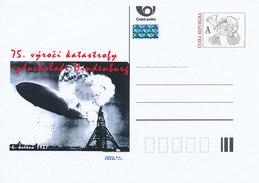 Tschech. Rep. / Ganzsachen (Pre2012/26) Der Zeppelin LZ 129 Hindenburg Wurde Am 6. Mai 1937 Durch Feuer Zerstört - Storia