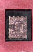 GREAT BRITAIN GRAN BRETAGNA 1902 1911 KING EDWARD VII SIX PENNY 6p USATO USED OBLITERE' - 1902-1951 (Re)