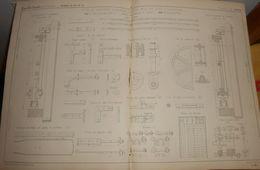 Plan De Types De Barrières Roulantes. 1857. - Public Works