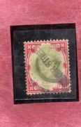 GREAT BRITAIN GRAN BRETAGNA 1902 1911 KING EDWARD VII ONE SHILLING 1sh USATO USED OBLITERE' - Usati