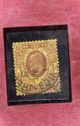 GREAT BRITAIN GRAN BRETAGNA 1902 1911 KING EDWARD VII THREE PENNY 3p USATO USED OBLITERE' - 1902-1951 (Re)