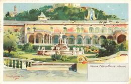 Thématiques Italie Italy Genes Genoa Genova Palaxio Doria Interno Cachet 1928 Timbre - Genova (Genoa)