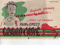 25- BESANCON- BUVARD BROCHET FRERES- PAIN D' EPICES GRAND CASSE- LE PREMIER EN CLASSE ECOLE- MEDAILLE - Alimentaire