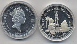 COOK IS, 50 DOLARES 1991 - Islas Cook
