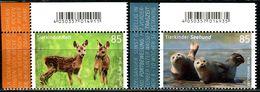 BRD - Michel 3352 / 3353 ECKE LIO - ** Postfrisch (B) - 85-85C  Tierkinder Reh Seehund, Ausgabe: 02.01.2018 - Ungebraucht