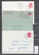 Lettre Ambulant Moderne -Paris à Marseille  - 3 Piéces - Marcophilie (Lettres)