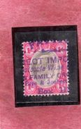 GREAT BRITAIN GRAN BRETAGNA 1911 KING EDWARD VII ONE PENNY 1p USATO USED OBLITERE' - 1902-1951 (Re)