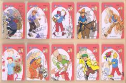 CHINA Telefonkarten  Puzzle - TIN TIN  -siehe Scan - - Comics