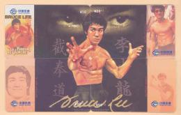CHINA Telefonkarten  Puzzle - Film Bruce Lee -siehe Scan - - Kino