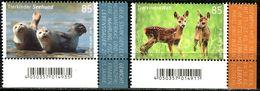 BRD - Michel 3352 / 3353 ECKE REU - ** Postfrisch (I) - 85-85C  Tierkinder Reh Seehund, Ausgabe: 02.01.2018 - Ungebraucht