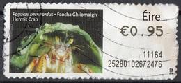 Irlanda 2010  Label Post And Go - Hermit Crab - Pagurus  - Used Autoadesivo Ireland Eire - Usati