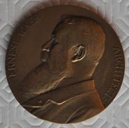 Médaille - Ernest Acker, Architecte. Devreese. Exposition Bruxelles - 1910. Rare ! - Belgium
